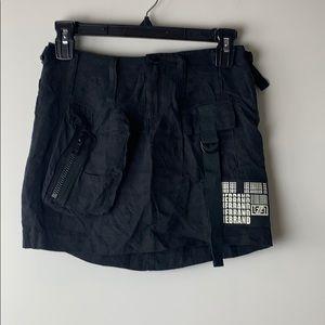 LF Black Cargo Pocket Mini Skirt Size 2